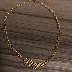 Gold Gods Boujee Short Necklace, Loose Choker